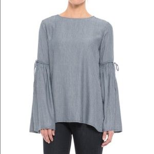 Beach Lunch Lounge striped bell sleeve top
